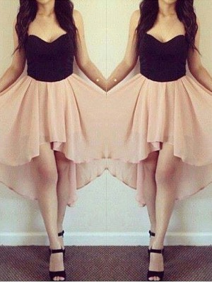 A-Line/Princess Sleeveless Sweetheart Short/Mini Chiffon Dresses