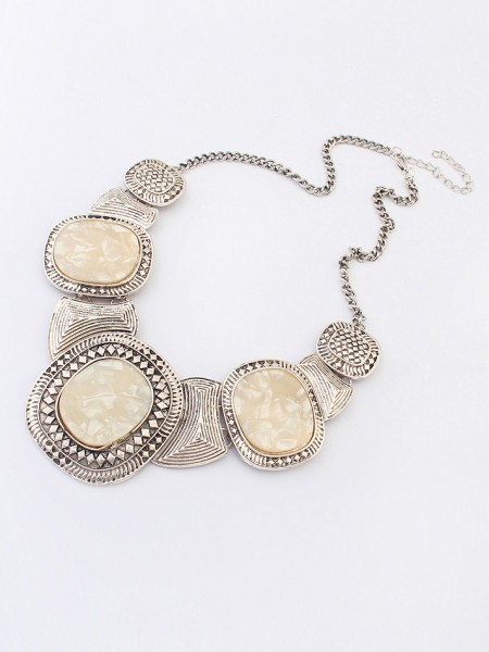 Occident Hyperbolic Retro New Colored stones Hot Sale Necklace