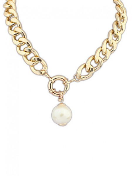 Occident Palace Pearls thick chains Hot Sale Necklace